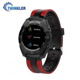 Ceas Smartwatch TKY-L3 cu Functie de monitorizare ritm cardiac, Notificari, Pedometru, Bluetooth, Rosu