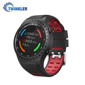 Ceas Smartwatch TKY-M1 cu Functie Apelare prin Bluetooth, Ritm cardiac, GPS, Busola, Barometru, Pedometru, Rosu