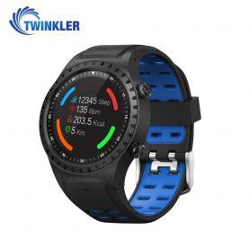 Ceas Smartwatch TKY-M1S cu Functie Apelare, Ritm cardiac, GPS, Busola, Barometru, Pedometru, Slot SIM, Albastru