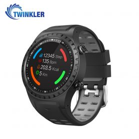 Ceas Smartwatch TKY-M1S cu Functie Apelare, Ritm cardiac, GPS, Busola, Barometru, Pedometru, Slot SIM, Gri