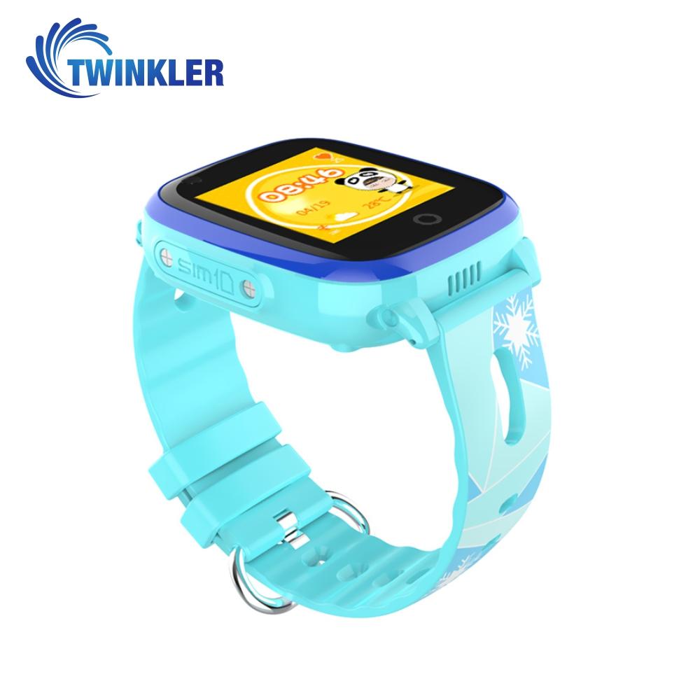 Ceas Smartwatch Pentru Copii Twinkler TKY-DF33 cu Functie Telefon, Apel video, Localizare GPS, Camera, Lanterna, SOS, Android, 4G, IP54, Joc Matematic – Bleu, Cartela SIM Cadou imagine