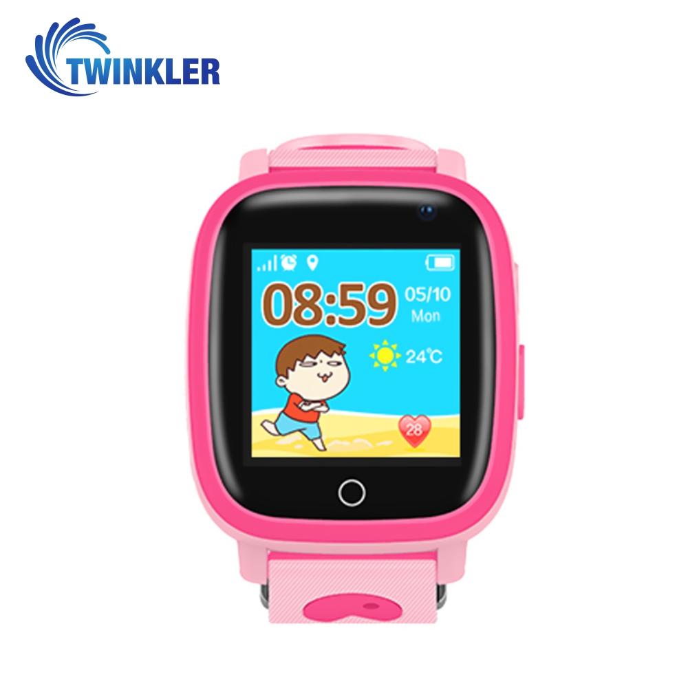 Ceas Smartwatch Pentru Copii Twinkler TKY-Q11 cu Functie Telefon, Localizare GPS, Camera, Lanterna, SOS, Pedometru, Joc matematic, IP54 – Roz imagine