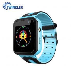 Ceas Smartwatch Pentru Copii Twinkler TKY-S7 cu Functie Telefon, Localizare GPS, Camera, Lanterna, SOS, IP54, Joc Matematic – Albastru, Cartela SIM Cadou