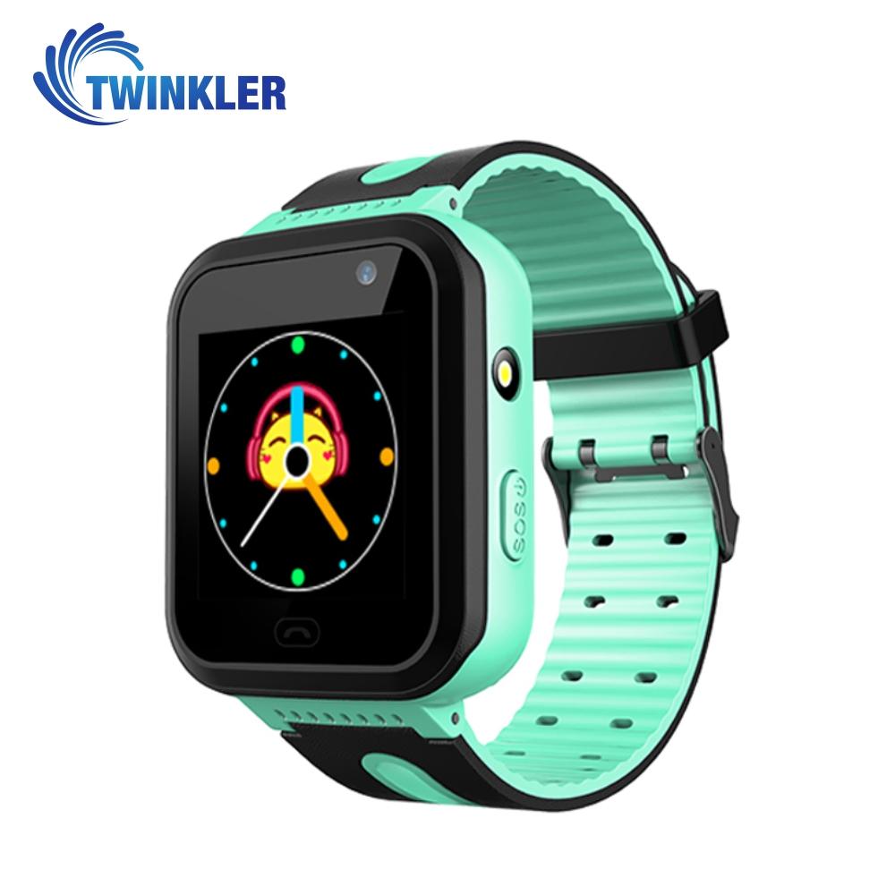 Ceas Smartwatch Pentru Copii Twinkler TKY-S7 cu Functie Telefon, Localizare GPS, Camera, Lanterna, SOS, IP54, Joc Matematic – Verde Jad, Cartela SIM Cadou imagine
