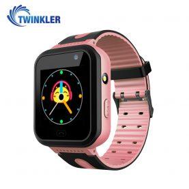 Ceas Smartwatch Pentru Copii Twinkler TKY-S7 cu Functie Telefon, Localizare GPS, Camera, Lanterna, SOS, IP54, Joc Matematic – Roz, Cartela SIM Cadou