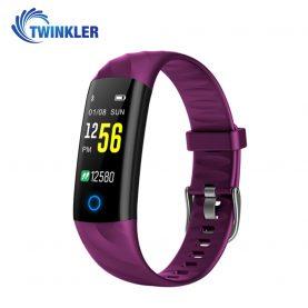 Bratara fitness inteligenta TKY-S5 cu functie de monitorizare ritm cardiac, Tensiune arteriala, Monitorizare somn, Pedometru, Notificari, Iluminare LED, Mov