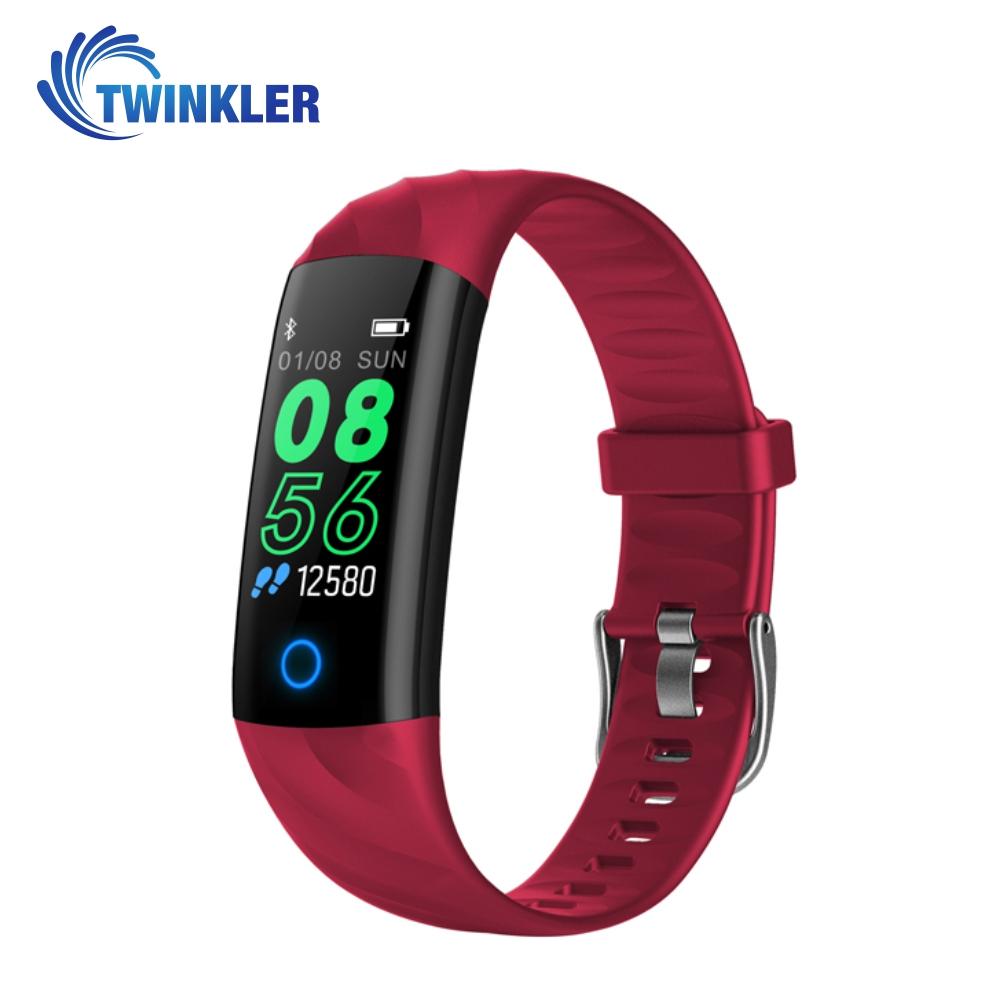 Bratara fitness inteligenta TKY-S5 cu functie de monitorizare ritm cardiac, Tensiune arteriala, Monitorizare somn, Pedometru, Notificari, Iluminare LED, Rosie imagine