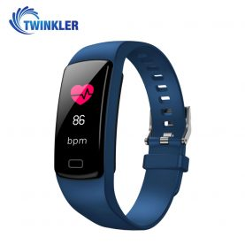 Bratara fitness inteligenta TKY-Y9 cu functie de monitorizare ritm cardiac, Tensiune arteriala, Nivel Oxigen, Pedometru, Notificari, Albastra