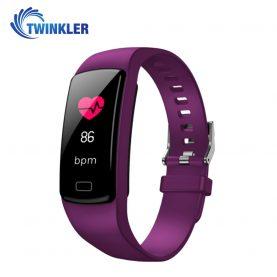 Bratara fitness inteligenta TKY-Y9 cu functie de monitorizare ritm cardiac, Tensiune arteriala, Nivel Oxigen, Pedometru, Notificari, Mov