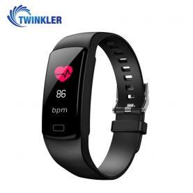 Bratara fitness inteligenta TKY-Y9 cu functie de monitorizare ritm cardiac, Tensiune arteriala, Nivel Oxigen, Pedometru, Notificari, Neagra
