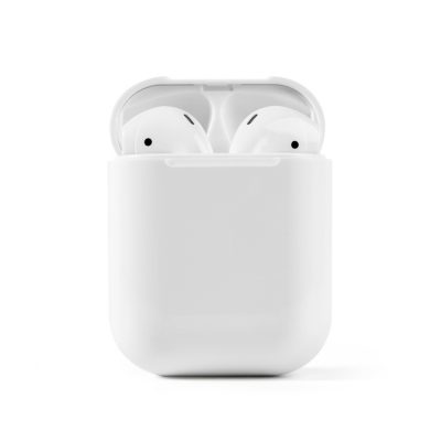 Casti wireless Bluetooth I12 Stereo cu Functie apelare, Control muzica, Cutie incarcare inclusa, Android/ iOS, Alb
