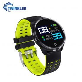 Ceas Smartwatch TKY-X7 cu functie de monitorizare ritm cardiac, Tensiune arteriala, Monitorizare somn, Notificari, Negru – Verde
