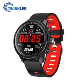 Ceas Smartwatch TKY-L5 cu functie de monitorizare ritm cardiac, Monitorizare somn, Pedometru, Notificari, Lanterna, Negru – Rosu