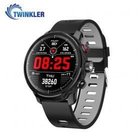 Ceas Smartwatch TKY-L5 cu functie de monitorizare ritm cardiac, Monitorizare somn, Pedometru, Notificari, Lanterna, Negru – Gri