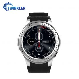 Ceas Smartwatch TKY-L1 cu Functie Apelare, Ritm cardiac, Tensiune arteriala, Camera, GPS, Barometru, Busola, Pedometru, Notificari, Argintiu