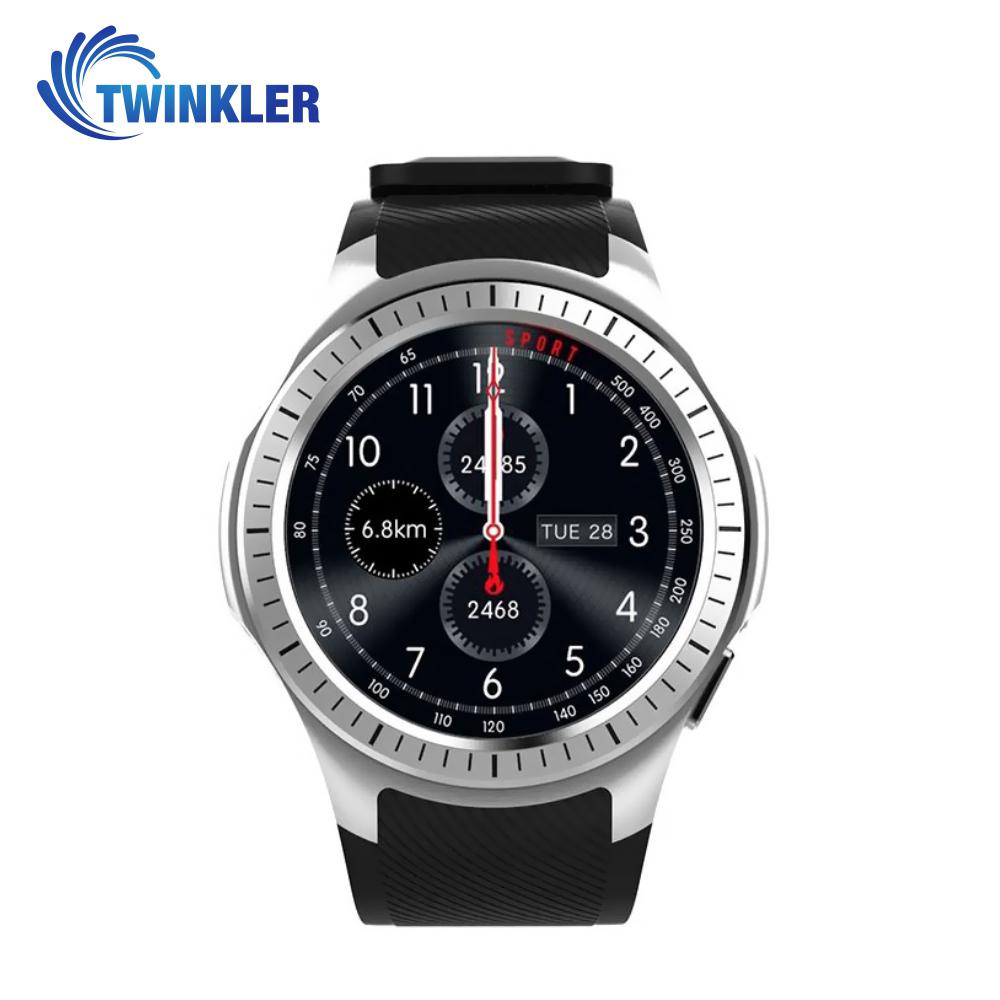 Ceas Smartwatch TKY-L1 cu Functie Apelare, Ritm cardiac, Tensiune arteriala, Camera, GPS, Barometru, Busola, Pedometru, Notificari, Argintiu imagine