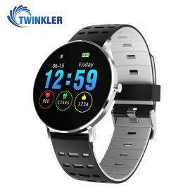 Ceas Smartwatch TKY-L6 cu functie de monitorizare ritm cardiac, Monitorizare somn, Pedometru, Notificari, Silicon, Negru – Gri