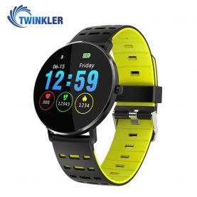 Ceas Smartwatch TKY-L6 cu functie de monitorizare ritm cardiac, Monitorizare somn, Pedometru, Notificari, Silicon, Negru – Verde