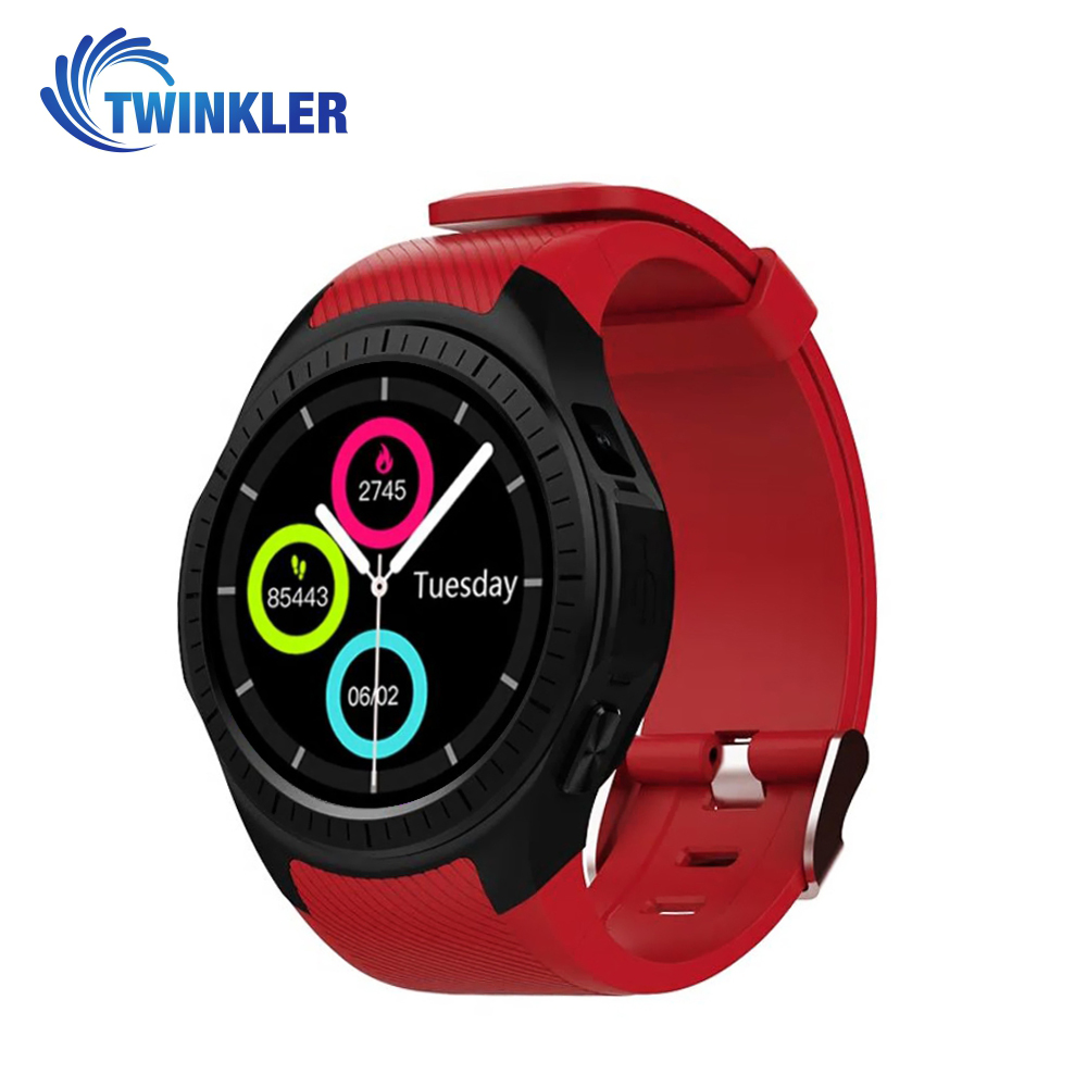 Ceas Smartwatch TKY-L1 cu Functie Apelare, Ritm cardiac, Tensiune arteriala, Camera, GPS, Barometru, Busola, Pedometru, Notificari, Rosu imagine