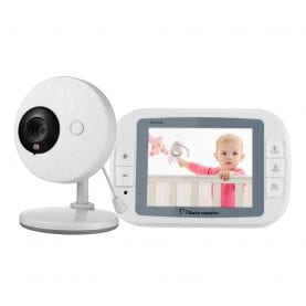 Baby Monitor Wireless 851, Monitorizare Audio – Video, Monitorizare temperatura, Comunicare bidirectionala, Cantece de leagan, Night Vision, Baterie incorporata