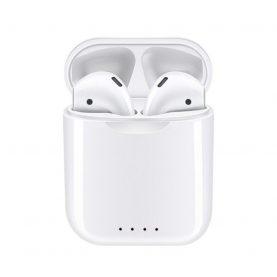 Casti wireless Bluetooth I88 Stereo cu Functie apelare, Control muzica, Cutie incarcare inclusa, SIRI, Android/ iOS, Alb