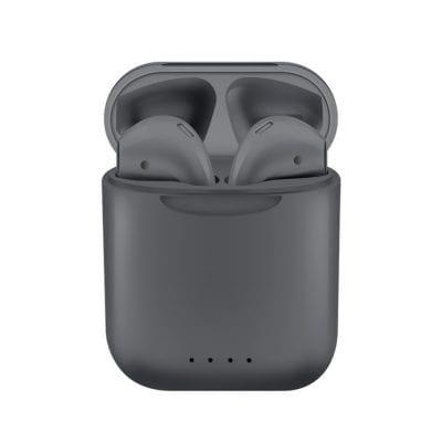 Casti wireless Bluetooth I88 Stereo cu Functie apelare, Control muzica, Cutie incarcare inclusa, SIRI, Android/ iOS, Gri