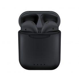 Casti wireless Bluetooth I88 Stereo cu Functie apelare, Control muzica, Cutie incarcare inclusa, SIRI, Android/ iOS, Negru