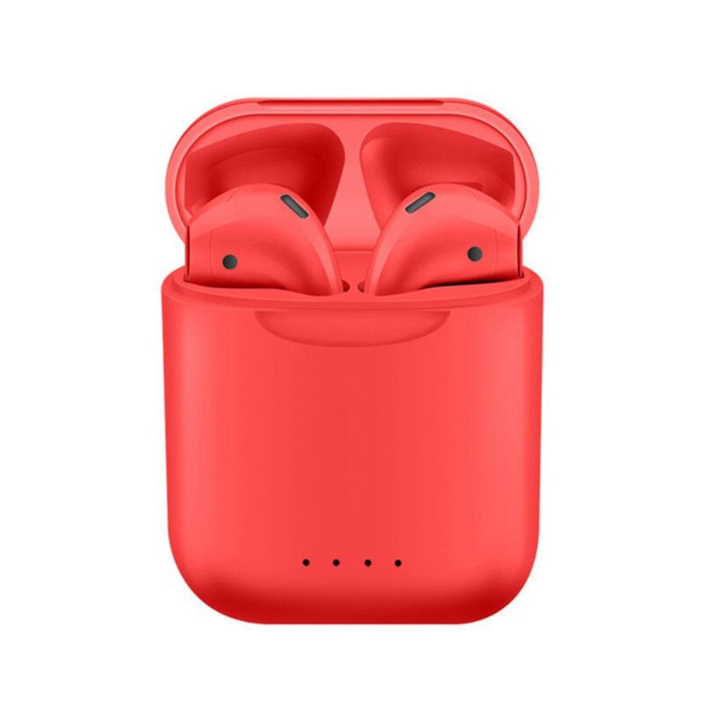 Casti wireless Bluetooth I88 Stereo cu Functie apelare, Control muzica, Cutie incarcare inclusa, SIRI, Android/ iOS, Rosu imagine