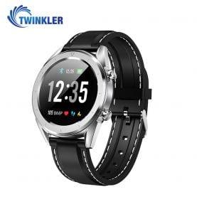 Ceas Smartwatch TKY-DT28 Silicon cu Functie EKG, Ritm cardiac, Tensiune arteriala, Nivel oxigen, Altitudine, Presiune, Radiatii UV, Pedometru, Notificari, Argintiu