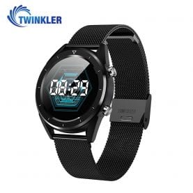 Ceas Smartwatch TKY-DT28 Metal cu Functie EKG, Ritm cardiac, Tensiune arteriala, Nivel oxigen, Altitudine, Presiune, Radiatii UV, Pedometru, Notificari, Negru