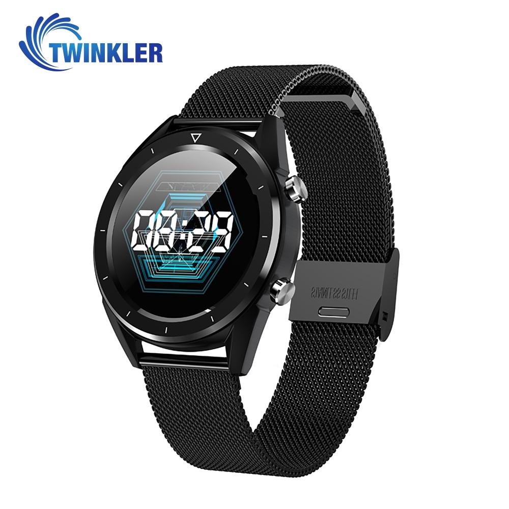 Ceas Smartwatch TKY-DT28 Metal cu Functie EKG, Ritm cardiac, Tensiune arteriala, Nivel oxigen, Altitudine, Presiune, Radiatii UV, Pedometru, Notificari, Negru imagine