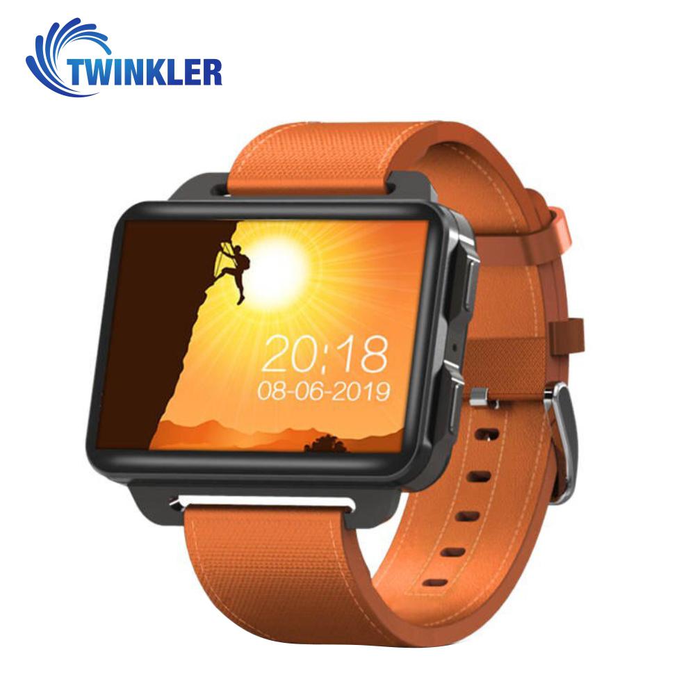 Ceas Smartwatch TKY-DM99 cu Functie Apelare, Ritm cardiac, Camera, GPS, WIFI, Apel video, Pedometru, Notificari, Android, Portocaliu imagine