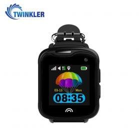 Ceas Smartwatch Pentru Copii Twinkler TKY-D7 cu Functie Telefon, Localizare GPS, Camera, Pedometru, IP54 – Negru, Cartela SIM Cadou