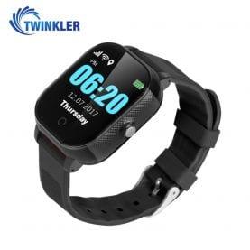 Ceas Smartwatch Pentru Copii Twinkler TKY-FA23 cu Functie Telefon, Localizare GPS, SOS, Istoric traseu, Pedometru, Negru, Cartela SIM Cadou