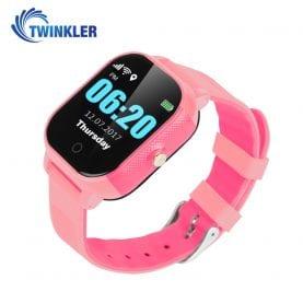 Ceas Smartwatch Pentru Copii Twinkler TKY-FA23 cu Functie Telefon, Localizare GPS, SOS, Istoric traseu, Pedometru, Roz, Cartela SIM Cadou