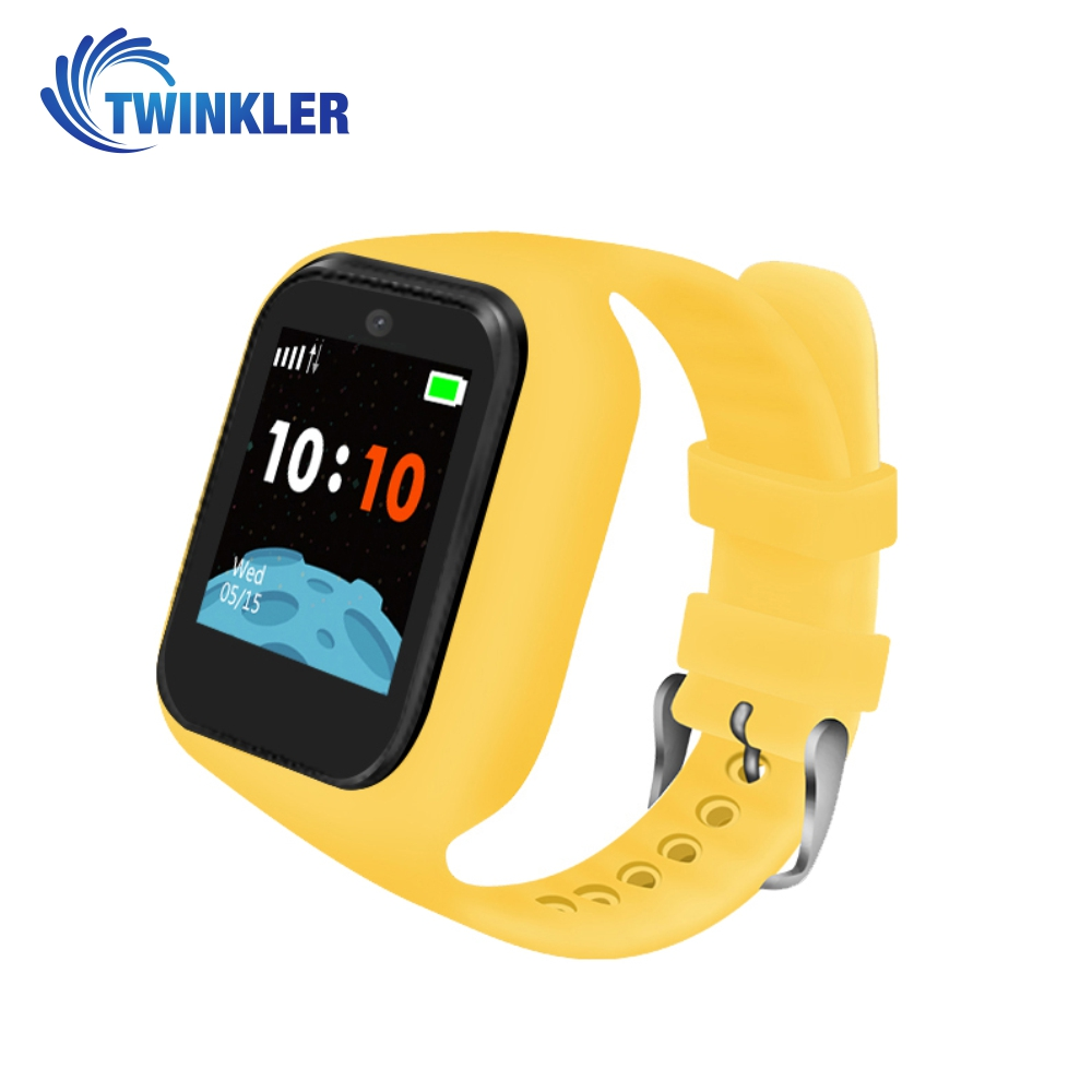 Ceas Smartwatch Pentru Copii Twinkler TKY-M5S cu Functie Telefon, Localizare GPS, Camera, SOS, Istoric traseu, Galben, Cartela SIM Cadou imagine