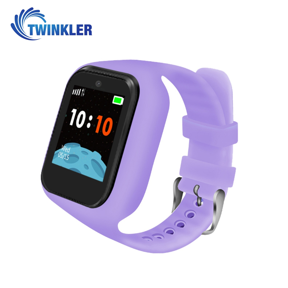 Ceas Smartwatch Pentru Copii Twinkler TKY-M5S cu Functie Telefon, Localizare GPS, Camera, SOS, Istoric traseu, Mov, Cartela SIM Cadou imagine
