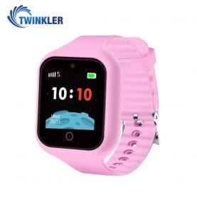 Ceas Smartwatch Pentru Copii Twinkler TKY-M5S cu Functie Telefon, Localizare GPS, Camera, SOS, Istoric traseu, Roz, Cartela SIM Cadou