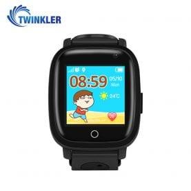 Ceas Smartwatch Pentru Copii Twinkler TKY-Q11 cu Functie Telefon, Localizare GPS, Camera, Lanterna, SOS, Pedometru, Jocuri, IP67 – Negru