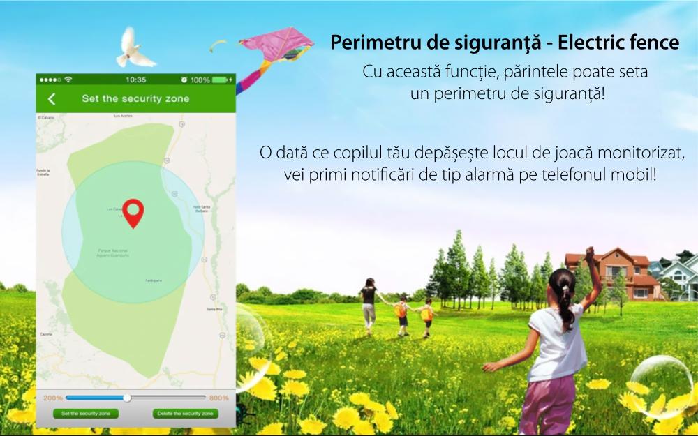 Ceas Smartwatch Pentru Copii i365-Tech FA23 cu Functie Telefon, Localizare GPS, SOS, Istoric traseu, Pedometru, Alb – Albastru
