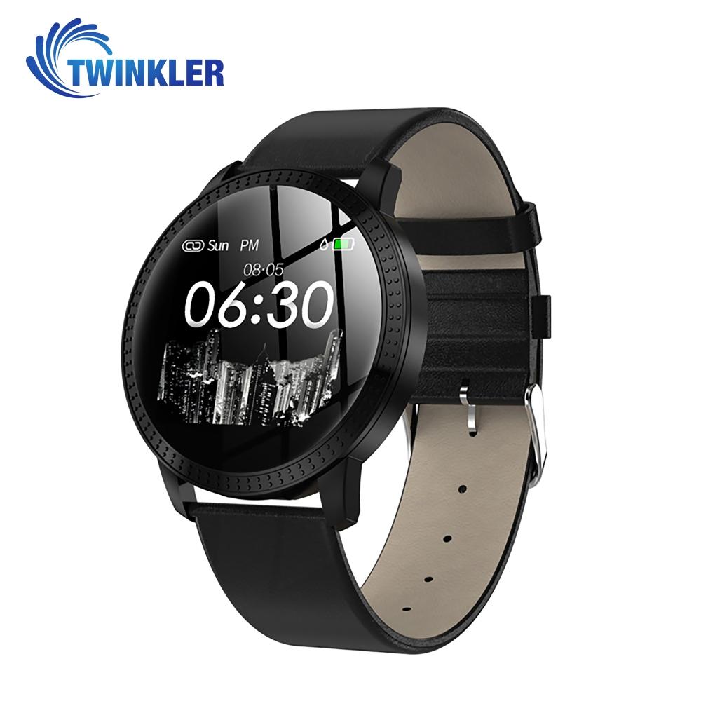 Ceas Smartwatch TKY-CF18 cu Functie de monitorizare ritm cardiac, Tensiune arteriala, Notificari Apel/ SMS, Pedometru, Functie respingere apel, Negru imagine