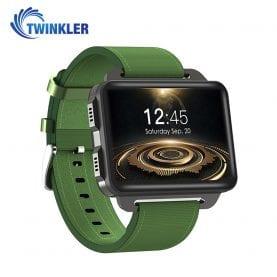 Ceas Smartwatch TKY-DM99 cu Functie Apelare, Ritm cardiac, Camera, GPS, WIFI, Apel video, Pedometru, Notificari, Android, Verde