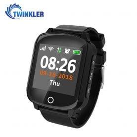 Ceas Smartwatch Pentru Adulti / Varstnici Twinkler TKY-D200 cu Functie Telefon, Senzor puls, Tensiune arteriala, Localizare GPS, Pedometru, SOS, Istoric traseu, Negru