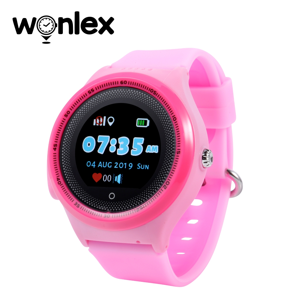 Ceas Smartwatch Pentru Copii Wonlex KT06 cu Functie Telefon, Localizare GPS, Apel Monitorizare, Pedometru, SOS, Roz imagine