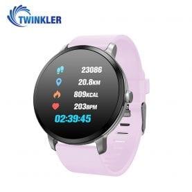 Ceas Smartwatch TKY-V11 cu Functie de monitorizare ritm cardiac, Tensiune arteriala, Nivel oxigen,  Monitorizare somn, Notificari Apel/ SMS, Mov