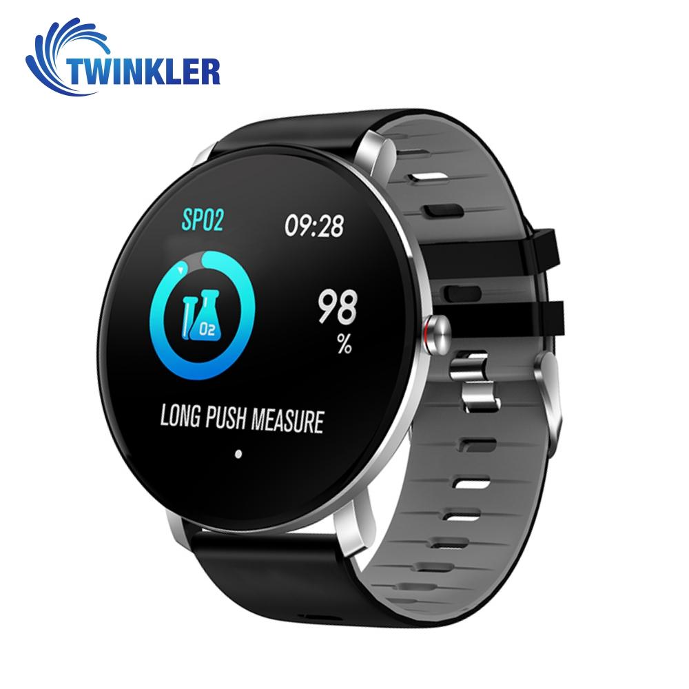 Ceas Smartwatch fitness fashion TKY-K9 Silicon cu functie de monitorizare ritm cardiac, Tensiune arteriala, Monitorizare somn, Notificari Apel/ SMS, Nivel Oxigen, Gri imagine
