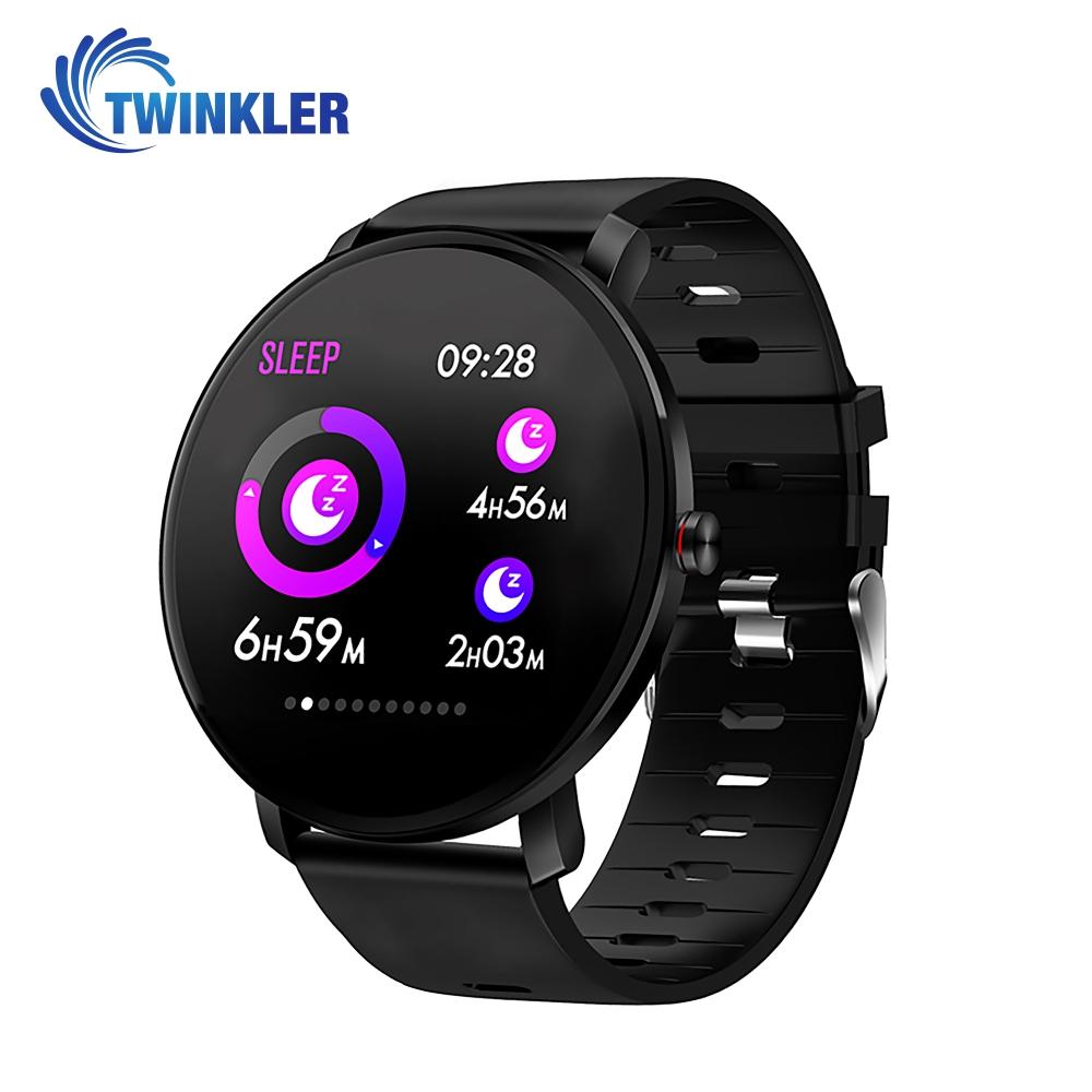 Ceas Smartwatch fitness fashion TKY-K9 Silicon cu functie de monitorizare ritm cardiac, Tensiune arteriala, Monitorizare somn, Notificari Apel/ SMS, Nivel Oxigen, Negru imagine