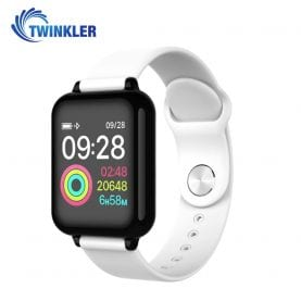 Ceas Smartwatch TKY-FT07 cu functie de monitorizare ritm cardiac, Tensiune arteriala, Nivel oxigen, Notificari Apel/ SMS, Prognoza meteo, Mod sport, Alb