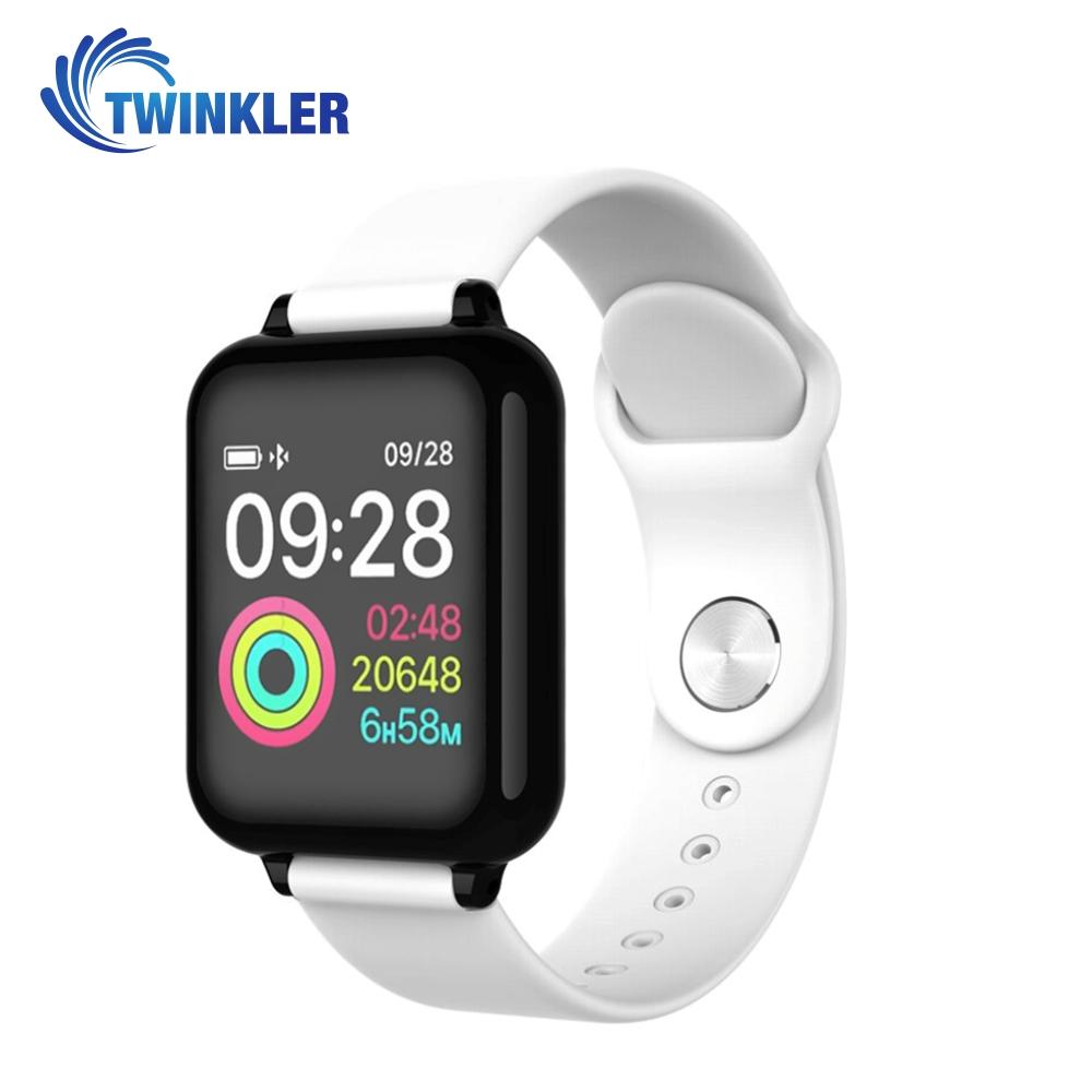 Ceas Smartwatch TKY-FT07 cu functie de monitorizare ritm cardiac, Tensiune arteriala, Nivel oxigen, Notificari Apel/ SMS, Prognoza meteo, Mod sport, Alb imagine