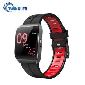 Ceas Smartwatch TKY-X1 cu functie de monitorizare ritm cardiac, Monitorizare somn, Monitorizare activitate GPS, Istoric traseu, Notificari Apel/ SMS, Rosu